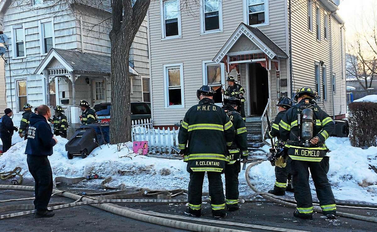 A dozen people were forced from their home at 61 Main St. in Fair Haven early Friday morning after a fire in the basement.
