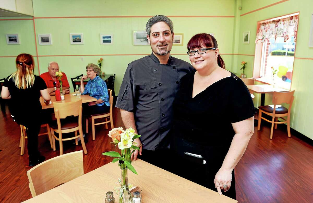 Jeff and Lynette Lamberti are photographed in their newly opened restaurant, West End Bistro, at 551 Main St. in West Haven on 5/29/2015.