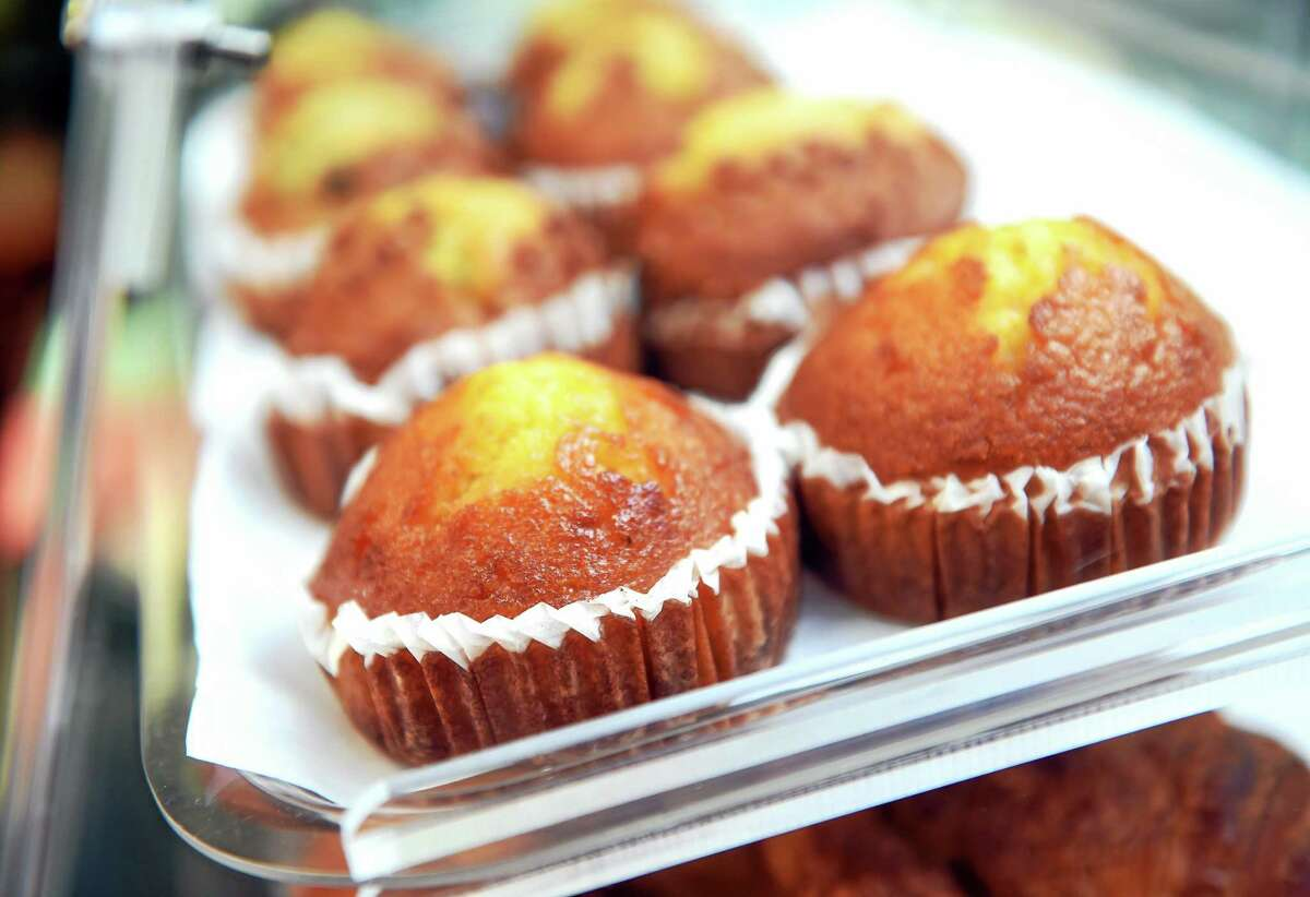 Muffins are displayed at West End Bistro at 551 Main St. in West Haven on 5/29/2015.