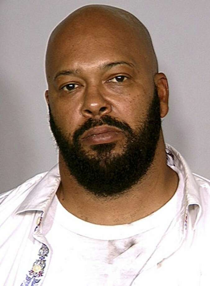 "FILE - This August 2008 file photo provided by the Las Vegas Metropolitan Police Department shows rap music mogul Marion ""Suge"" Knight. A lawyer for Knight says the Death Row Records founder was at the wheel of a car that struck two men, killing one, in a Los Angeles suburb. The accident in Compton occurred shortly before 3 p.m. Thursday, Jan. 29, 2015. (AP Photo/Las Vegas Metropolitan Police Department) (AP Photo/Las Vegas Metropolitan Police Department, File) Photo: AP / Las Vegas Metropolitan Police Department"