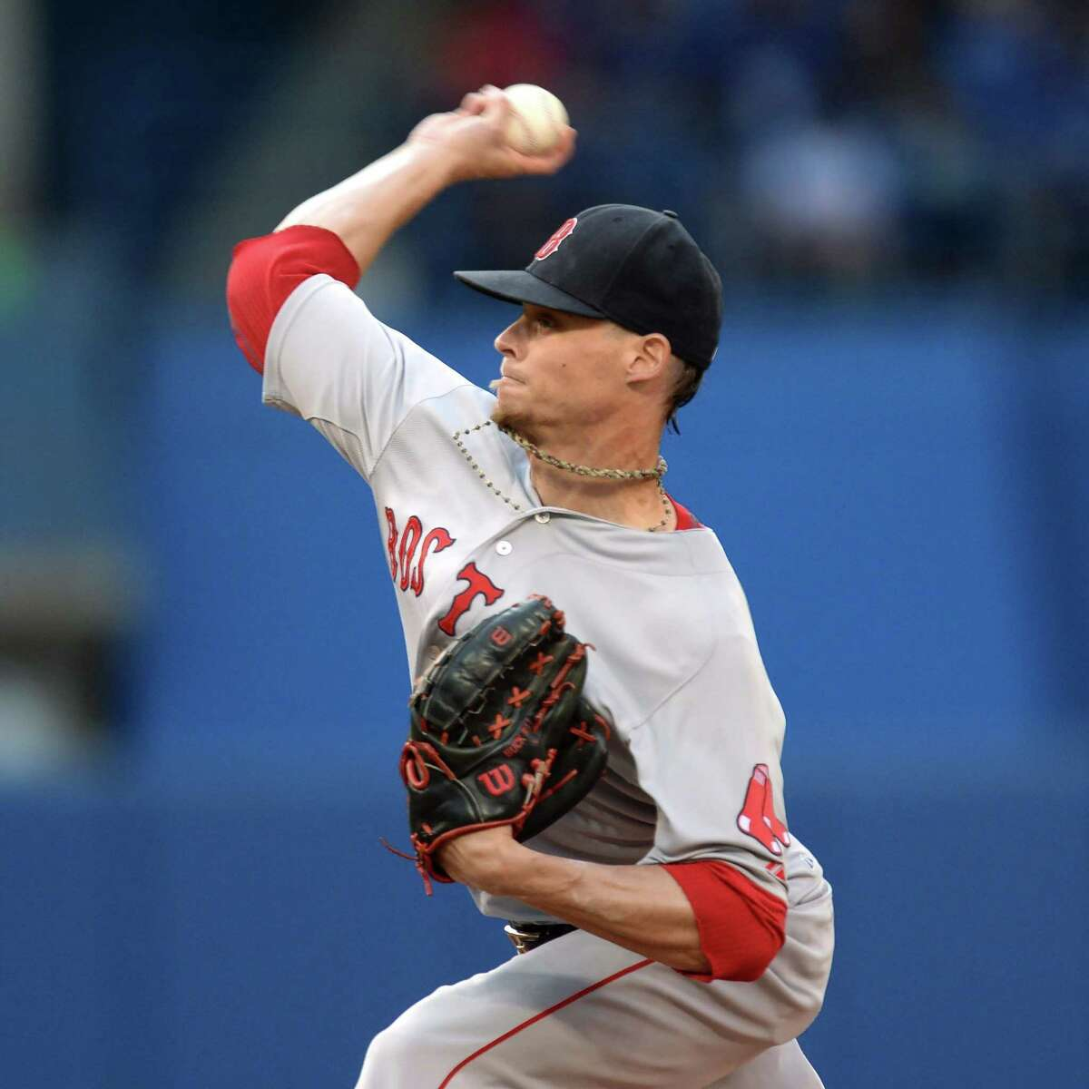 The Canadian Press via AP Boston Red Sox pitcher Clay Buchholz works against the Toronto Blue Jays during Monday's 3-1 Red Sox victory.
