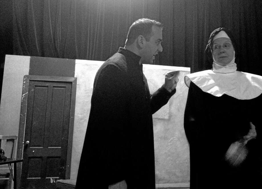 """Photo: Contributed  Steve Scarpa And Margaret Mann In """"Doubt."""""""