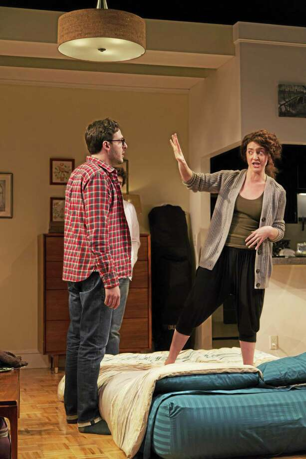 "Quarreling cousins Daphna (Keilley McQuail) and Liam (Mike Steinmetz) give ""Bad Jews"" its chutzpah. Photo: T. Charles Erickson — Tcepix@comcast.net   / T Charles Erickson"