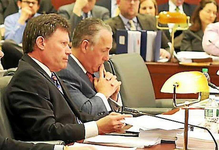 Sen. John Fonfara and Rep. Jeff Berger, co-chairmen of the Finance, Revenue and Bonding Committee. Photo: Christine Stuart Photo