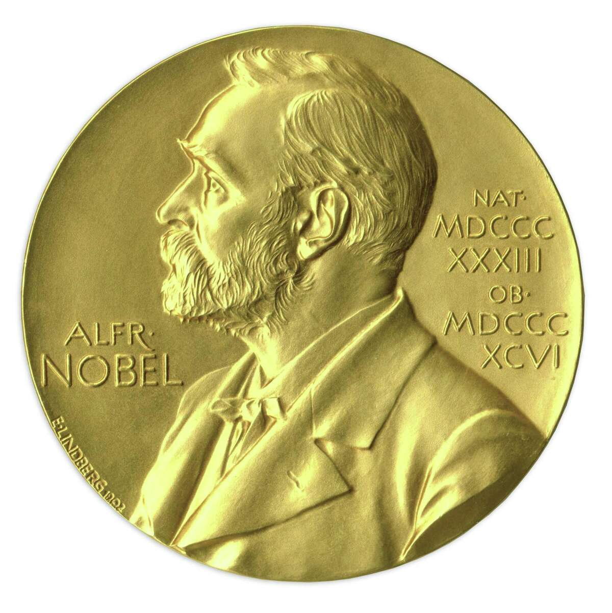 In this undated image provided by Nate D. Sanders Auctions, shows the obverse of the 1988 Nobel Prize in Physics awarded to Dr. Leon Lederman. The award put up for auction by the retired experimental physicist has sold for $765,002 USD. The online auction went into overtime Thursday, May 28, 2015, until a final bid went unchallenged for half an hour. Nate D. Sanders Auctions spokesman Sam Heller says the final amount is the fourth-highest ever paid among the 10 Nobel Prizes that have been sold at auction. The 92-year-old has said he decided to sell the prize because it has just been sitting on a shelf. (Amanda Hart, Nate D. Sanders Auctions via AP)
