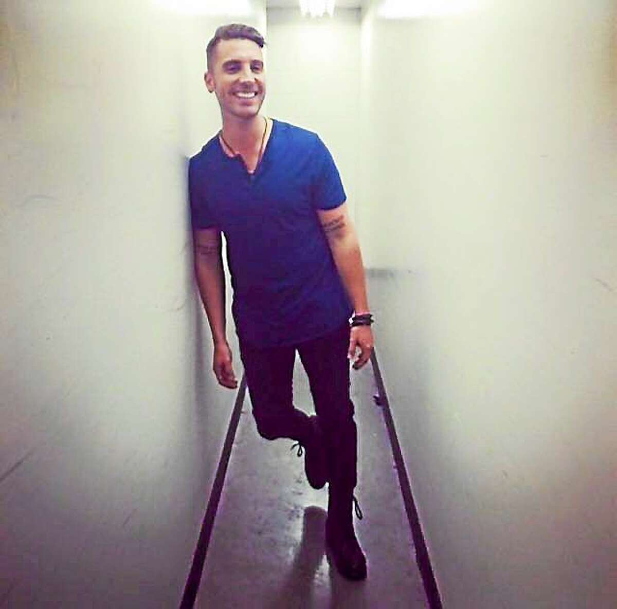 Nick in the hallway. Photo from his dad's Facebook page.