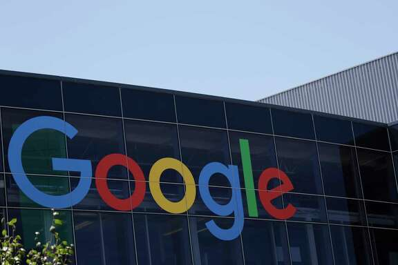 FILE - This Tuesday, July 19, 2016, file photo shows the Google logo at the company's headquarters in Mountain View, Calif. Alphabet Inc., the parent company of Google, reports earnings on Monday, July 24, 2017. (AP Photo/Marcio Jose Sanchez, File)
