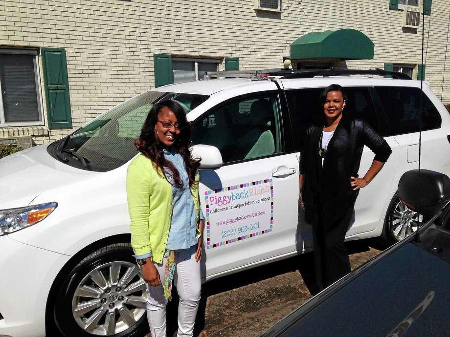 Jasmine Sampson, left, and Tatiana Dukes, founders of Piggyback Rides. Photo: Kate Ramunni -- New Haven Register