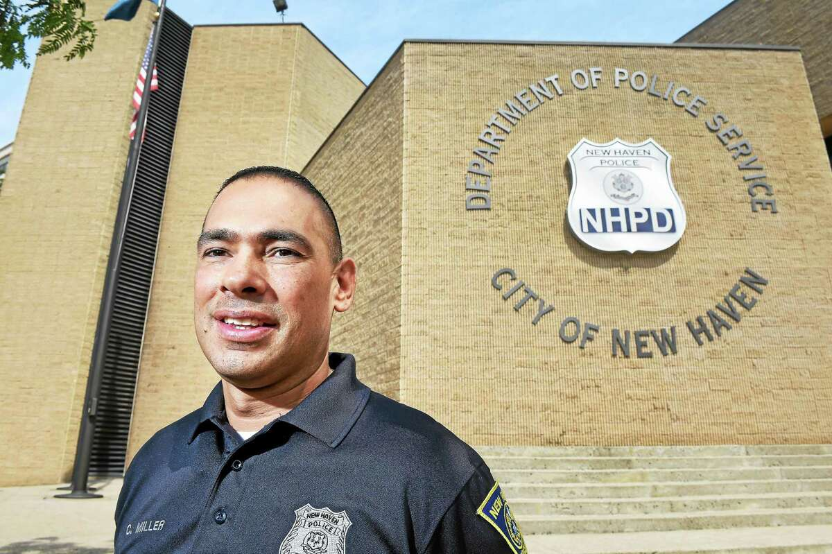 (Arnold Gold-New Haven Register) New Haven Police Officer Craig Miller photographed outside of the New Haven Police Department on 6/26/2015 has taken over the position of the New Haven Police Union President.
