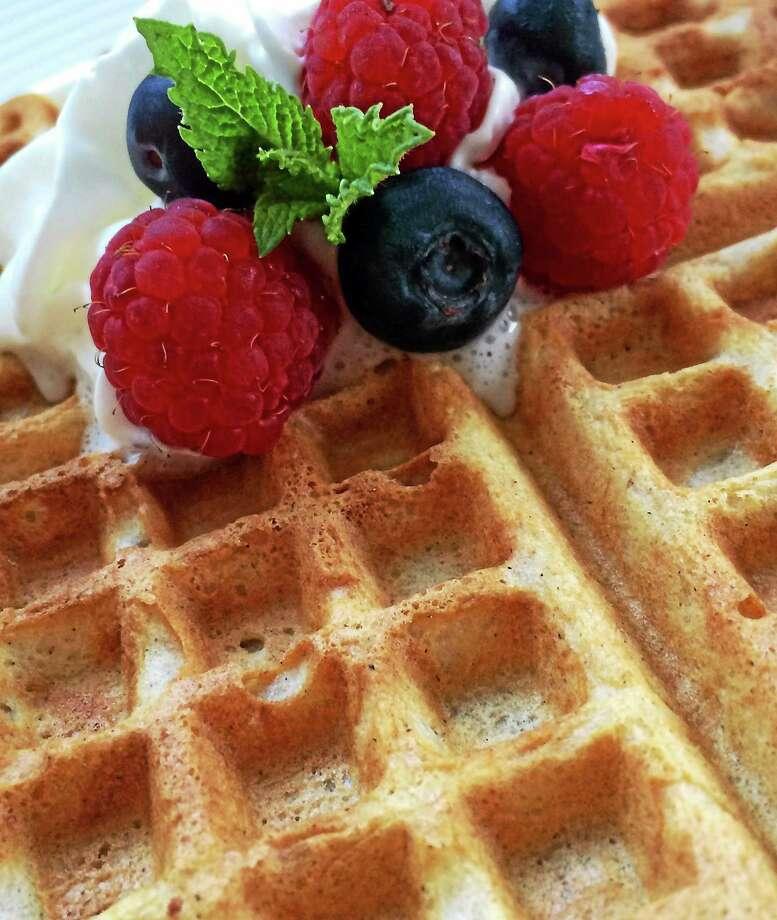 Yeasted Buckwheat-Buttermilk Waffles Photo: Robert Rabine