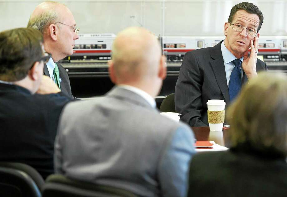 Governor Dannel P. Malloy hosts a meeting with business leaders and state and local officials at Union Station in New Haven Thursday. Photo: Peter Hvizdak — New Haven Register   / ©2015 Peter Hvizdak