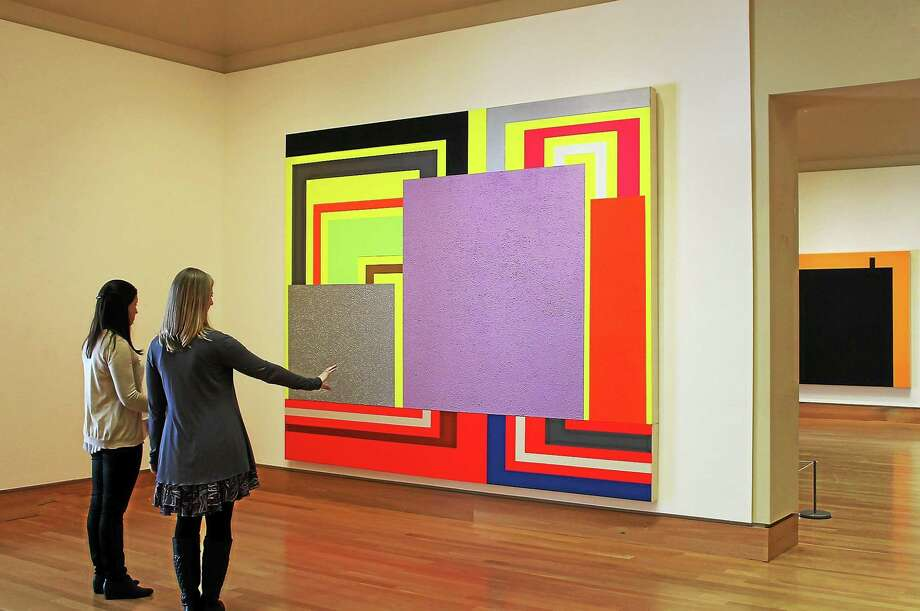 "Free day at the Florence Griswold Museum in Old Lyme is chance to take in the current exhibition ""Peter Halley: Big Paintings."" Some of the bright, bold paintings are over 10 feet wide. Photo: Contributed"