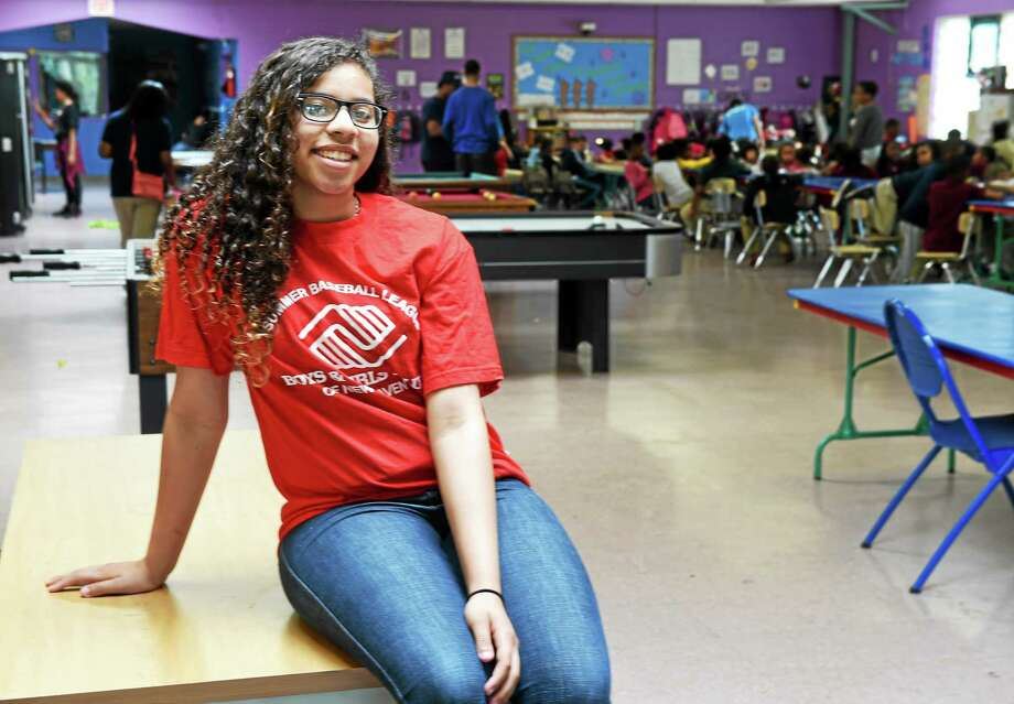 Kelcey Perez of New Haven, 14, the Boys and Girls Club youth of the year. Photo: Peter Hvizdak — New Haven Register    / ©2015 Peter Hvizdak