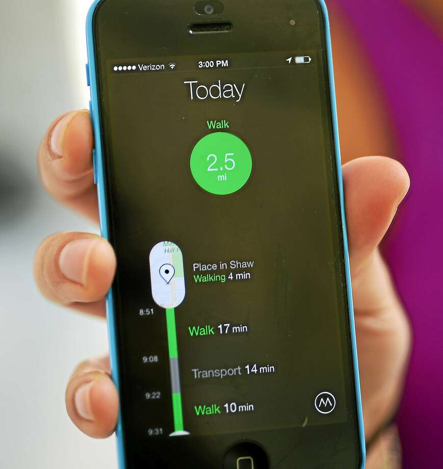 Smartphone apps that help users evaluate their performance are growing in popularity. Photo: Astrid Riecken/for The Washington Post   / THE WASHINGTON POST
