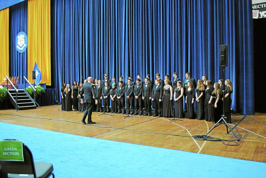 NHSO's Triumphant Voices program this week will include Guilford High School Voices. Photo: Guilford High School Voices