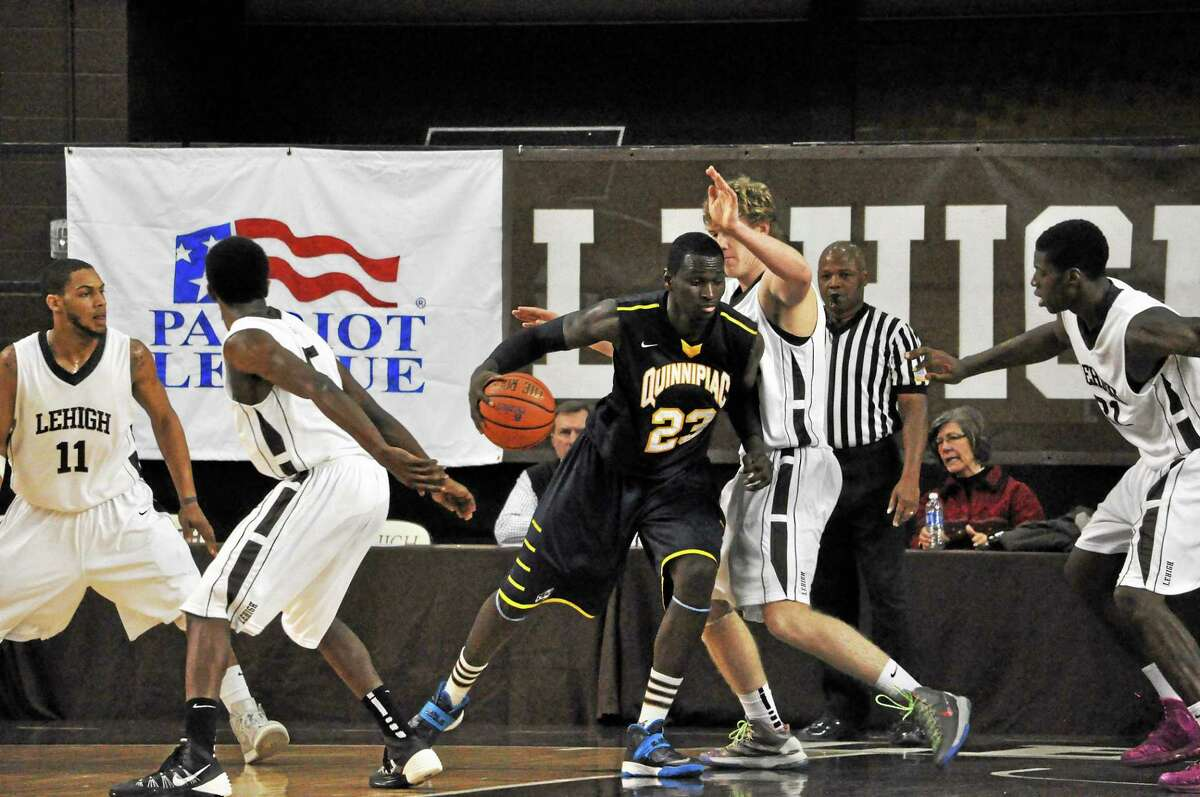 After what Quinnipiac's Ousmane Drame has been through, going against four Lehigh defenders is no big deal.
