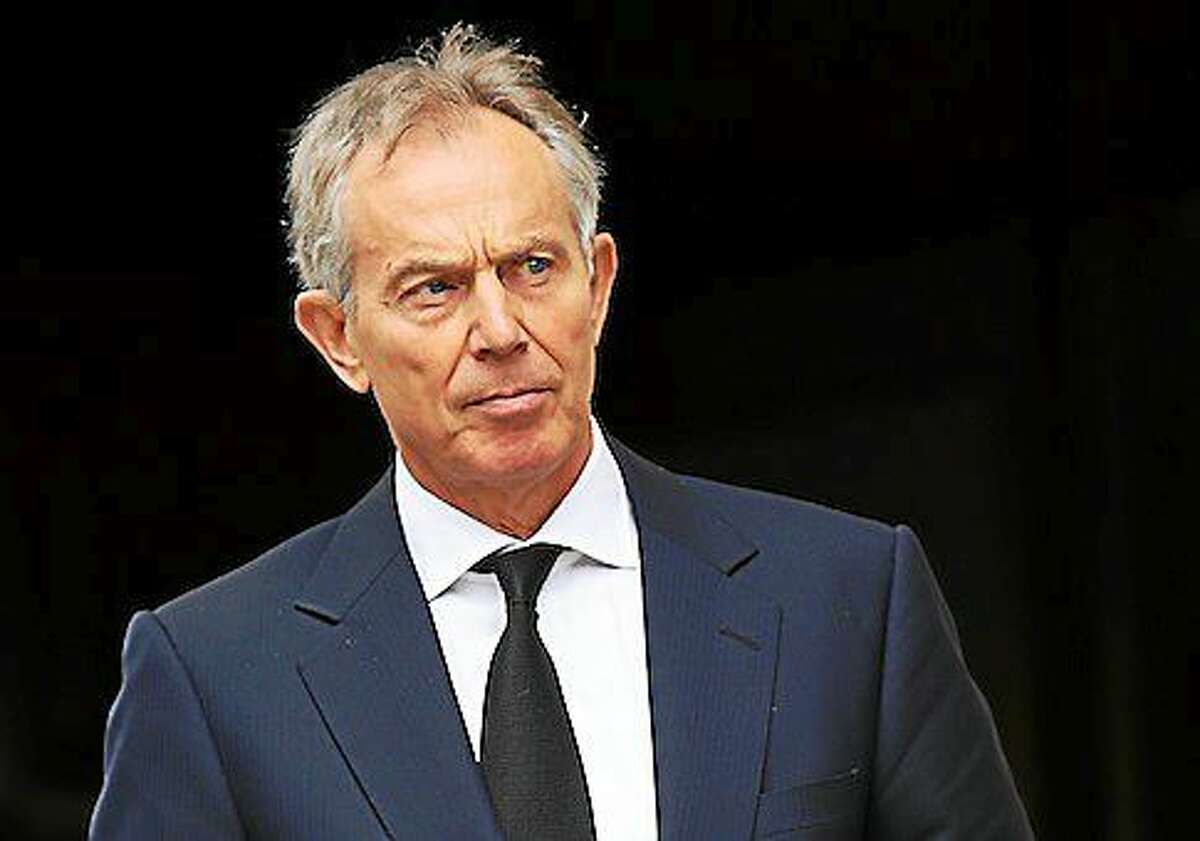 Blair speech at Bloomberg. File photo dated 17/04/12 of former Prime Minister Tony Blair who will warn tomorrow, that the West must put aside differences with Russia over Ukraine to focus on tackling the threat from radical Islam, Mr Blair is due to make the intervention in a speech at Bloomberg in London in the morning. Issue date: Tuesday April 22, 2014. See PA story POLITICS Blair. Photo credit should read: Chris Jackson/PA Wire URN:19632619