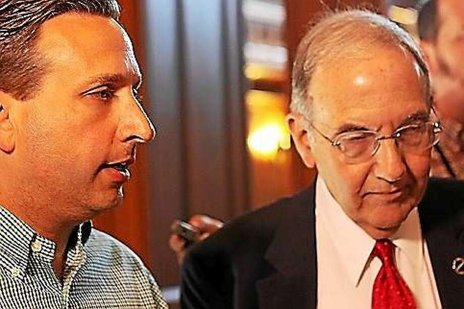 Sen. Majority Leader Bob Duff and Sen. President Martin Looney Photo: Elizabeth Regan Photo, CTNewsJunkie