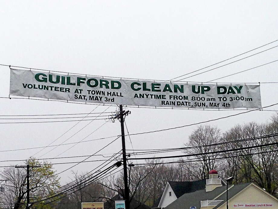 Guilford announces its cleanup day. Photo: Contributed File Photo