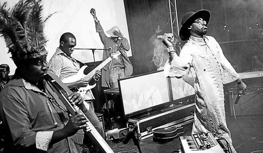The Kenyan house/funk/disco band Just a Band will headline the free Saturday night concert at Battell Chapel. Photo: Contributed