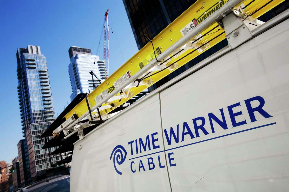 This Feb. 2, 2009 photo shows a Time Warner Cable truck in New York.