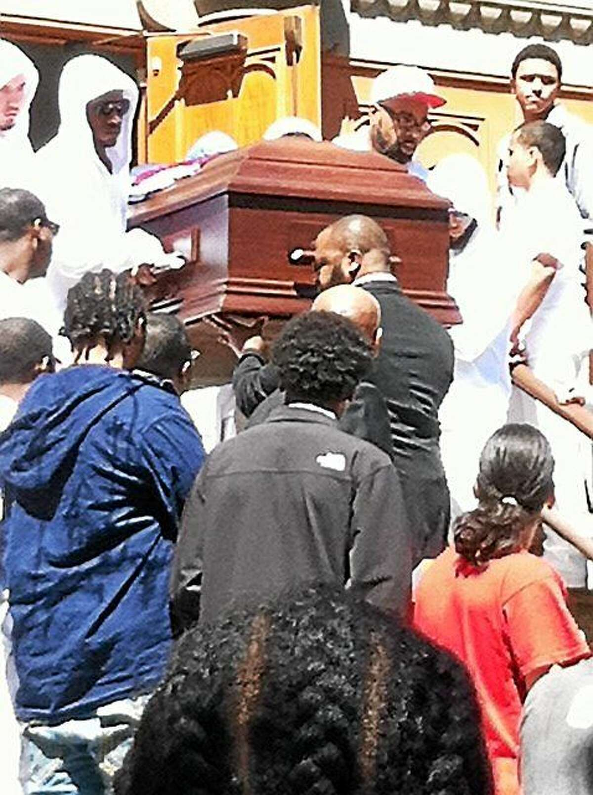 Funeral services were Saturday in New Haven for Jericho Scott, 16, who was killed in a drive-by shooting last weekend.