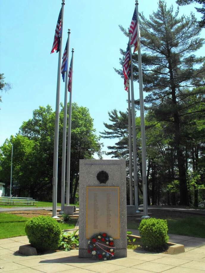 CONTRIBUTED PHOTO  One of the existing veterans monuments at French Memorial Park in Seymour. Photo: Journal Register Co.