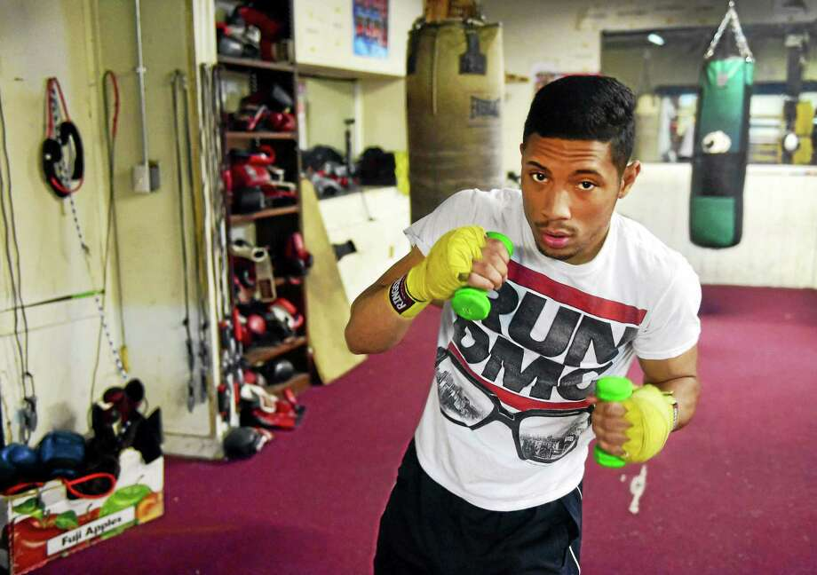 New Haven boxer Josh Crespo will take on Edgar Cortes in his ninth professional fight on Saturday in Danbury. Photo: Peter Hvizdak — Register   / ©2015 Peter Hvizdak