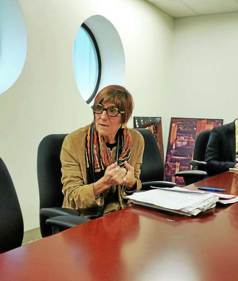 (Shahid Abul-Karim- New Haven Register) U.S. Rep. Rosa DeLauro, D-3, who is seeking reelection, speaks to the New Haven Register editorial board. Photo: Journal Register Co.