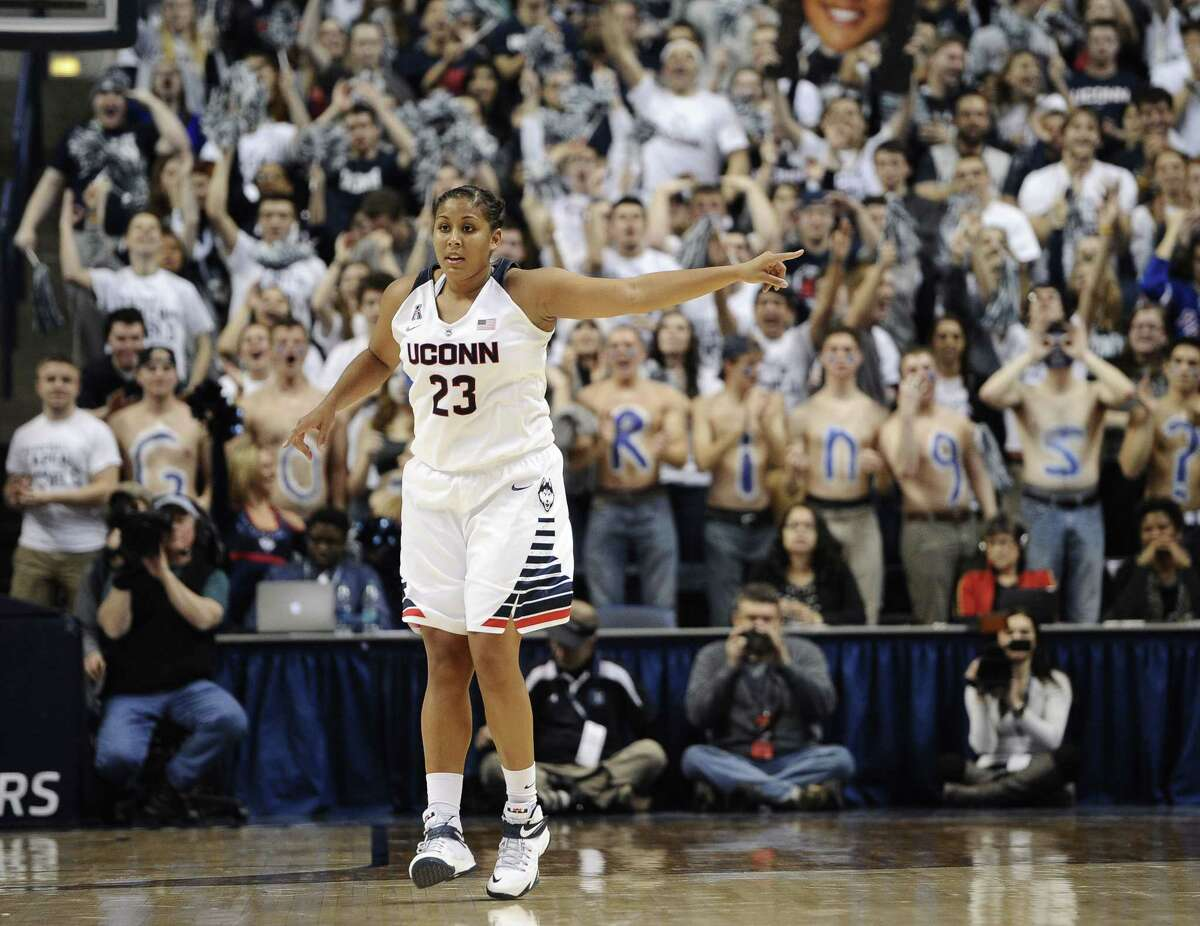 UConn's Kaleena Mosqueda-Lewis needs 25 points to become the eighth Husky to score 2,000 career points.