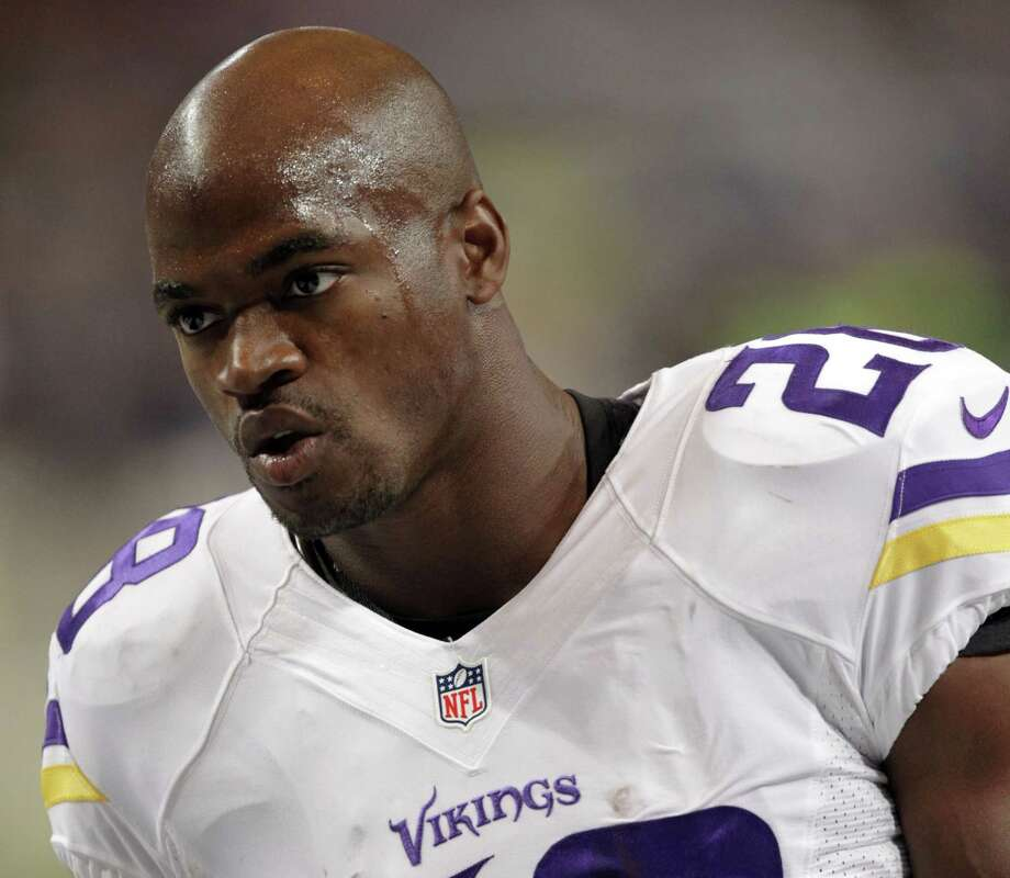 "Adrian Peterson and the Vikings have reached a standstill in their relationship. Peterson's agent, Ben Dogra, said in an interview on Tuesday that he believes a return to Minnesota this season is not in the ""best interest"" of the standout running back. Photo: Tom Gannam — The Associated Press File Photo   / FR45452 AP"