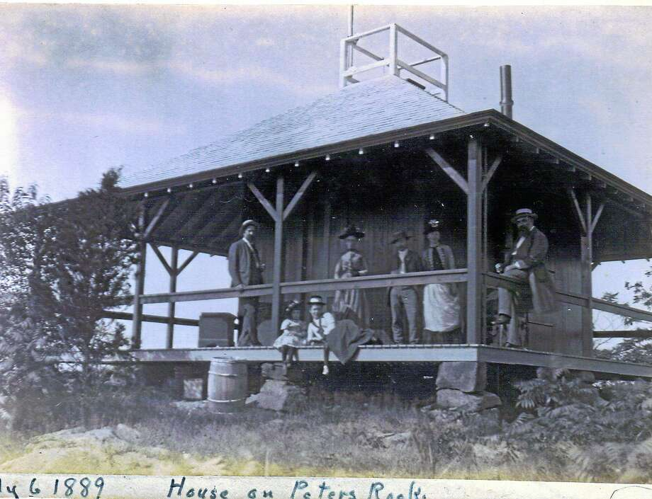 The Hermitage in July 1889  sat at the top of Peter's Rock in North Haven. Photo: North Haven Historical Society