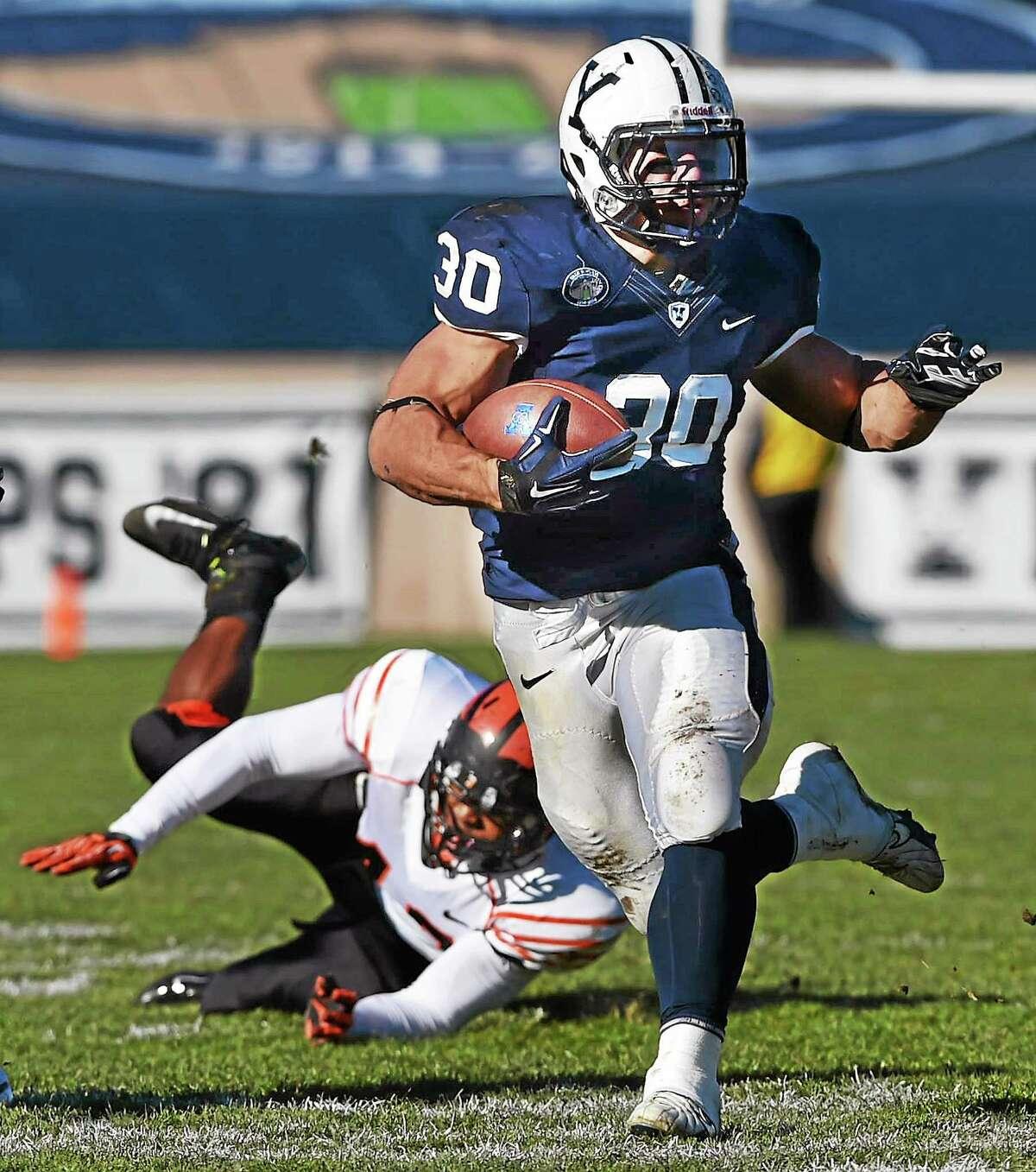 Yale running back Tyler Varga.