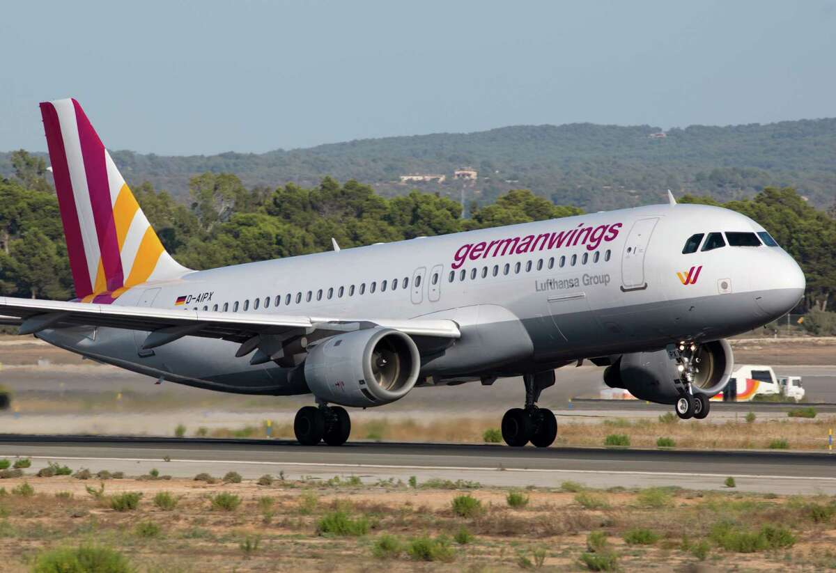 A Sunday Sept. 14, 2014 photo of the Airbus A320 flown by the Germanwings airline on the runway at Palma de Mallorca. The passenger jet carrying 150 people crashed Tuesday, March 24, 2015, in the French Alps as it flew from Barcelona to Duesseldorf, authorities said. As search-and-rescue teams struggled to get to the remote, snow-covered region, France's president warned that no survivors were expected. The crash site was at Meolans-Revels, near the popular ski resort of Pra Loup, according to Eric Ciotti, the head of the regional council in southeast France. The site is 700 kilometers (430 miles) south-southeast of Paris. But with mountains all around and few clear trails into the area, access to the crash site was expected to take time.