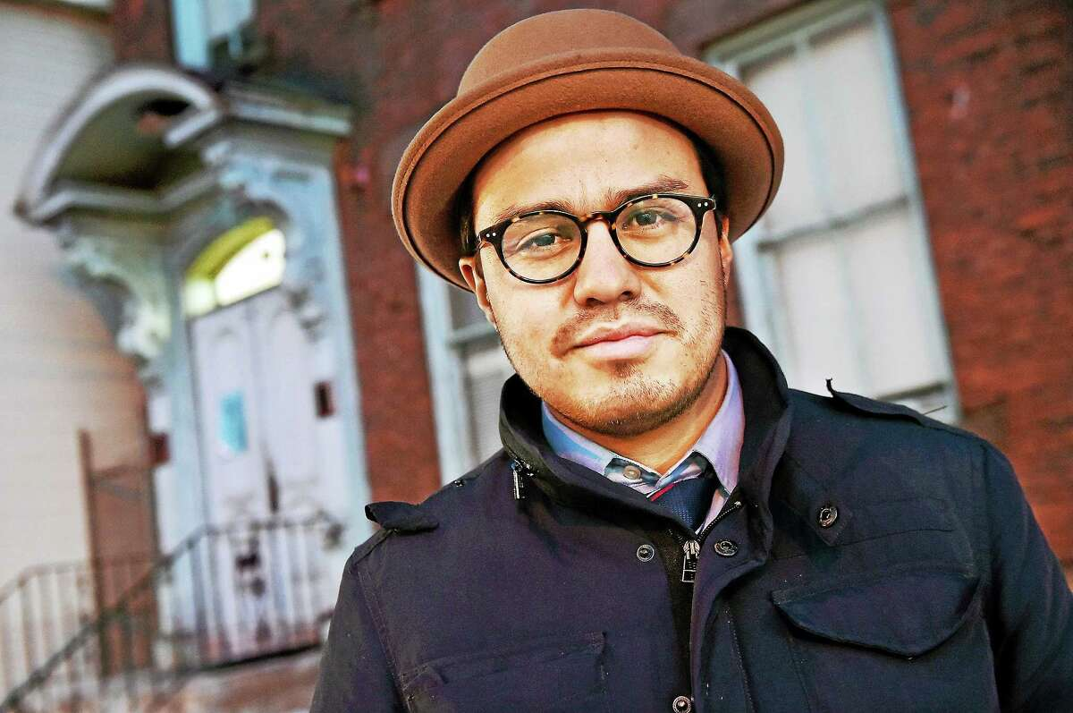 Luis G. Luna, an activist and volunteer at Unidad Latina En Action, at the New Haven People's Center at 37 Howe St. in New Haven