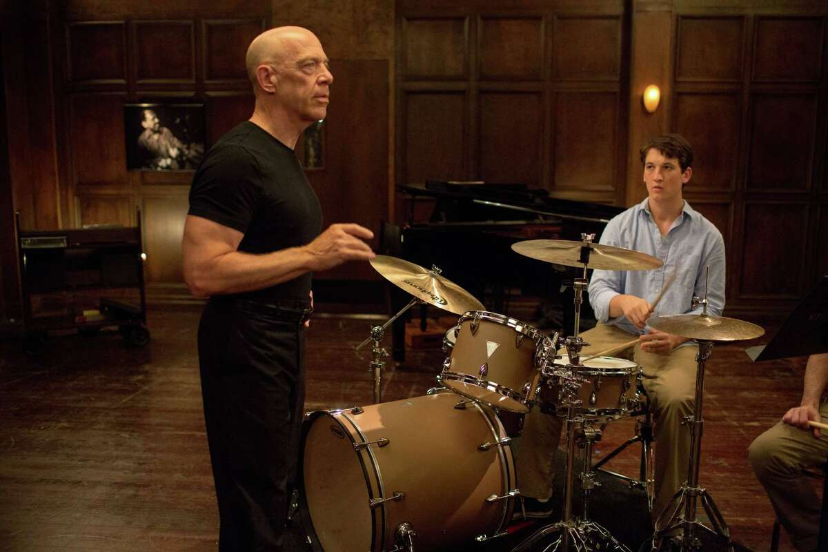 This image released by Sony Pictures Classics shows J.K. Simmons, left, and Miles Teller in a scene from