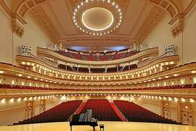 Former Midlander  Randol Bass  will hear his compositions fill Carnegie Hall today during a Distinguished Concerts International New York performance.