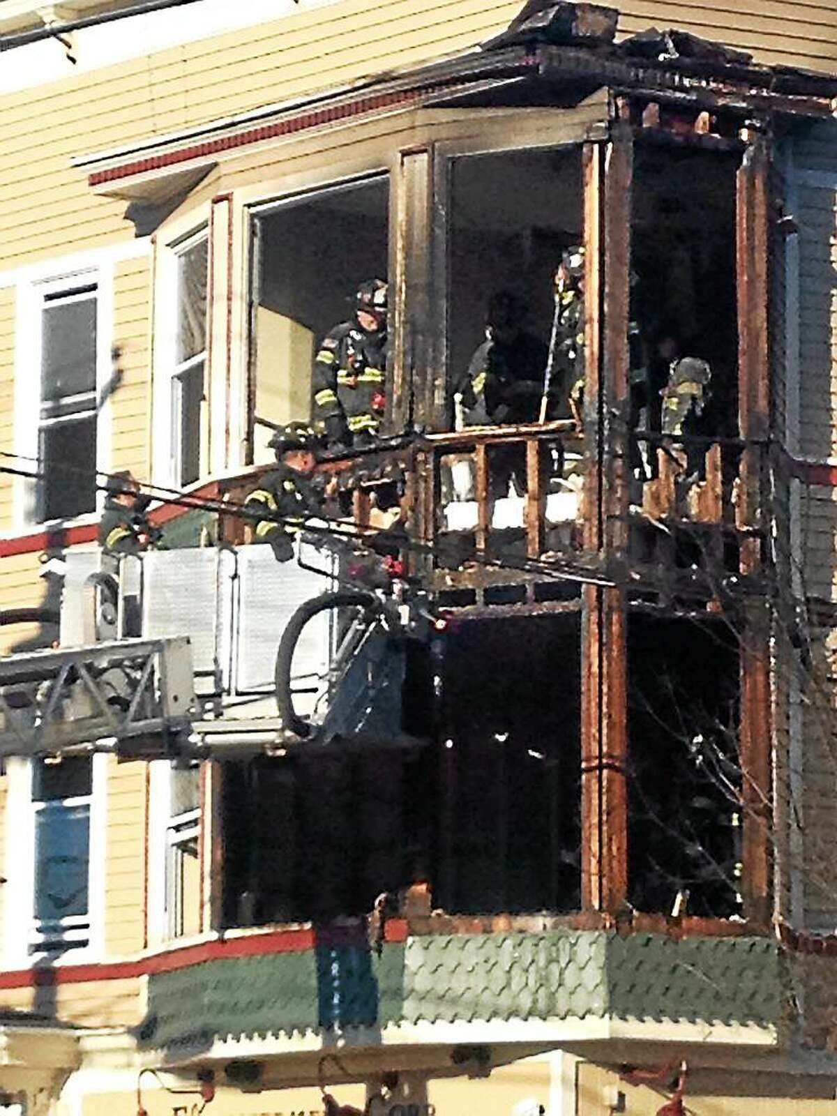 A two-alarm fire caused major damage to a building in Newhallville and reportedly displaced 12 people Monday afternoon.