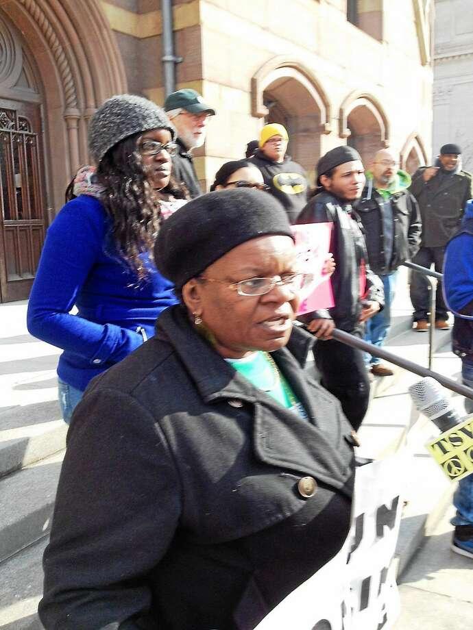 Barbara Fair at City Hall Photo: Journal Register Co.