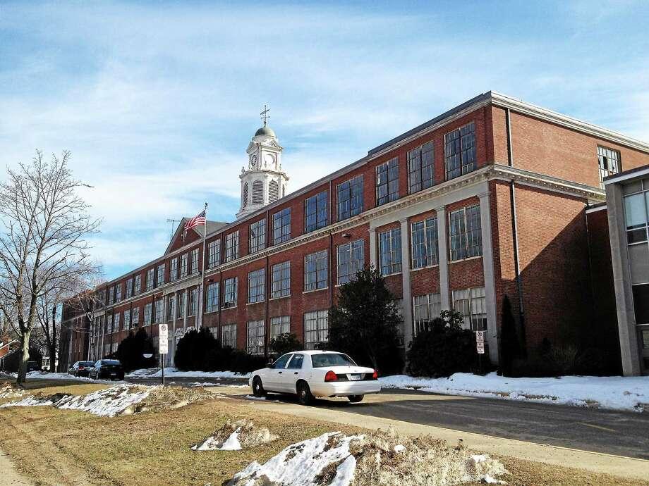 The former site of East Haven High School at 200 Tyler Street on Tuesday. Esteban L. Hernandez New Haven Register Photo: Journal Register Co.