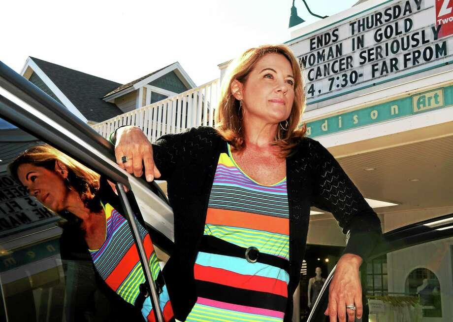 "Filmmaker Pat Lore of Guilford at the Madison Art Cinema last week. Lore produced the film ""Cancer? Seriously?"" Photo: Peter Hvizdak — New Haven Register   / ©2015 Peter Hvizdak"