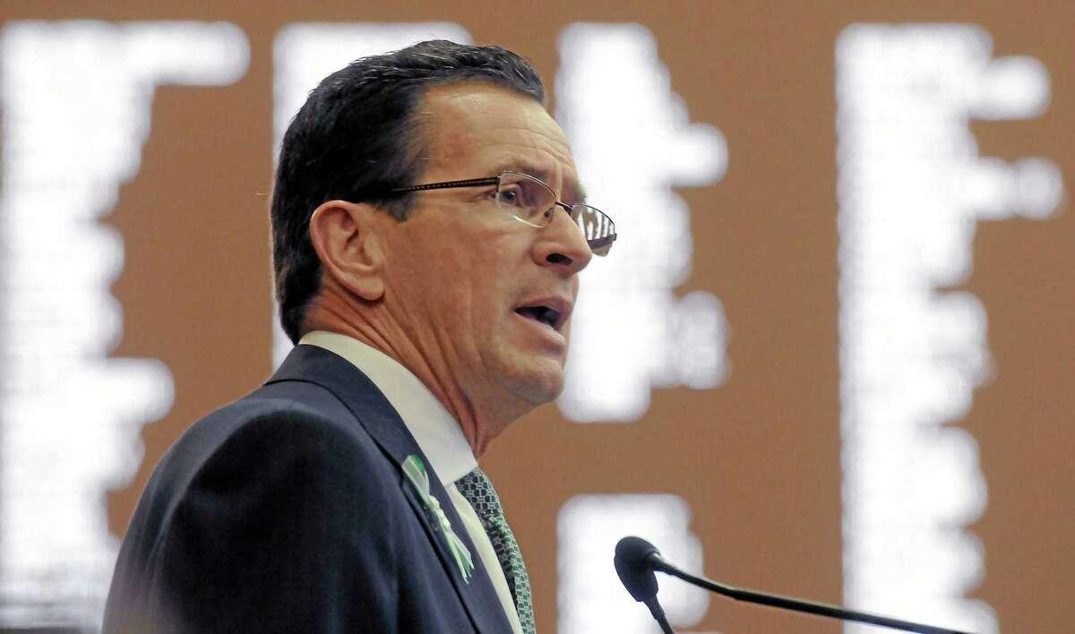 Gov. Dannel P. Malloy addresses the CT legislature in this 2013 file photo.