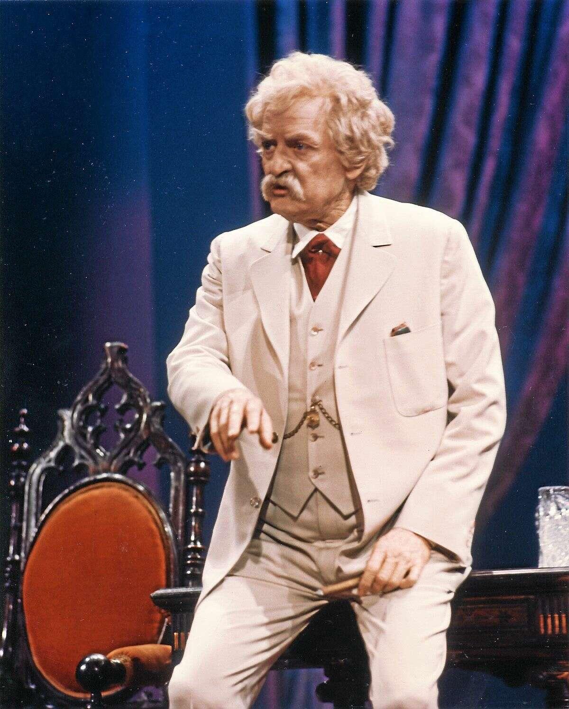 Hal Holbrook as Mark Twain, in an earlier performance.