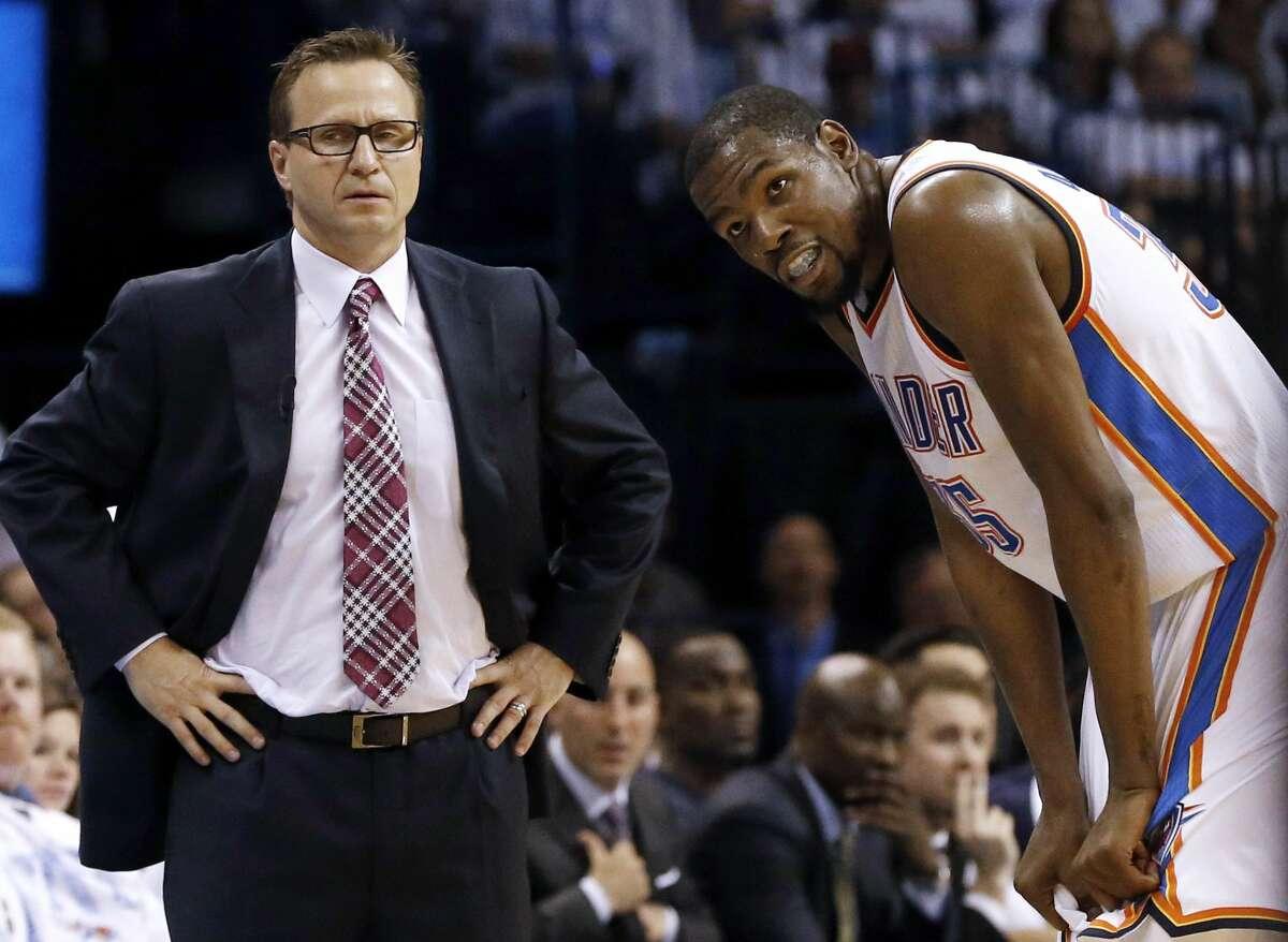 The Oklahoma City Thunder fired coach Scott Brooks on Wednesday.