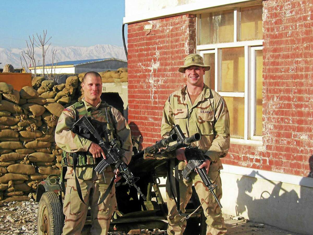 """It was pretty crazy. It was the best of times and it most definitely was also the worst of times."" - U.S. Army Captain Justin Nash (right) on his time serving in Afghanistan."