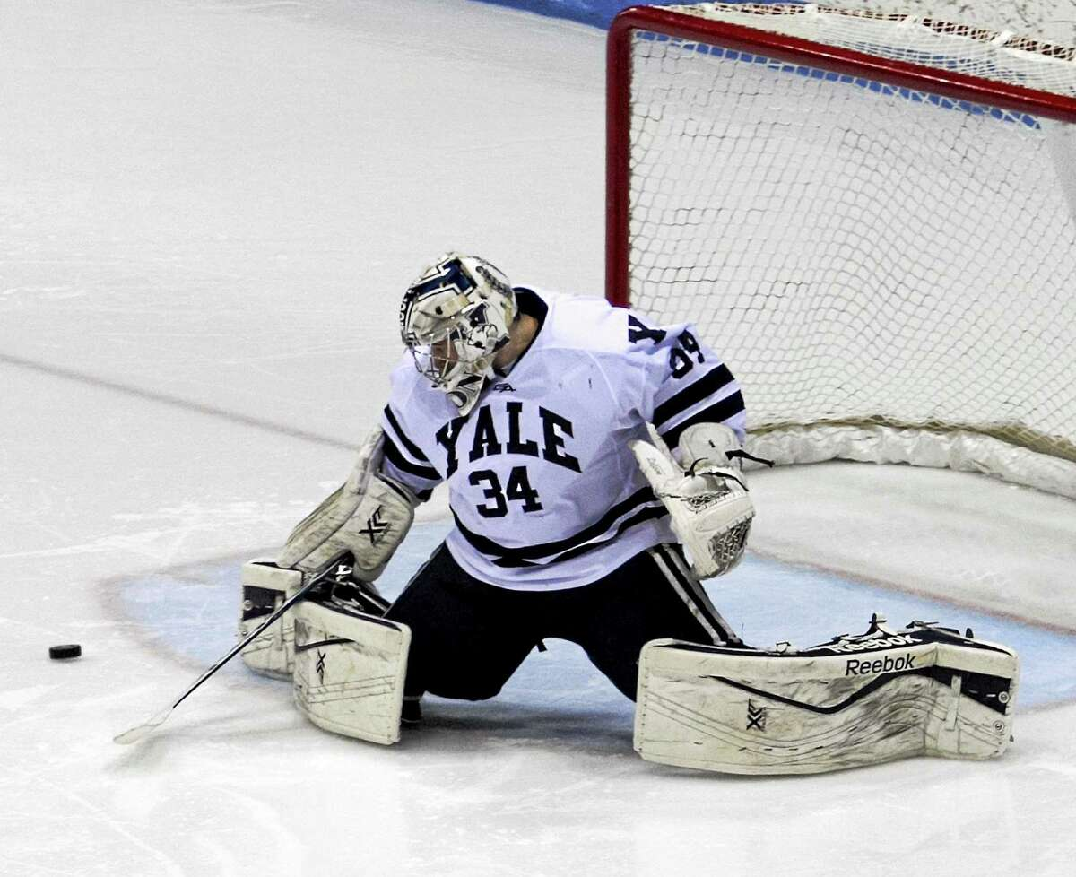 Yale sophomore goalie Alex Lyon is among the best in the nation with a 1.62 goals-against average and a .937 save percentage.