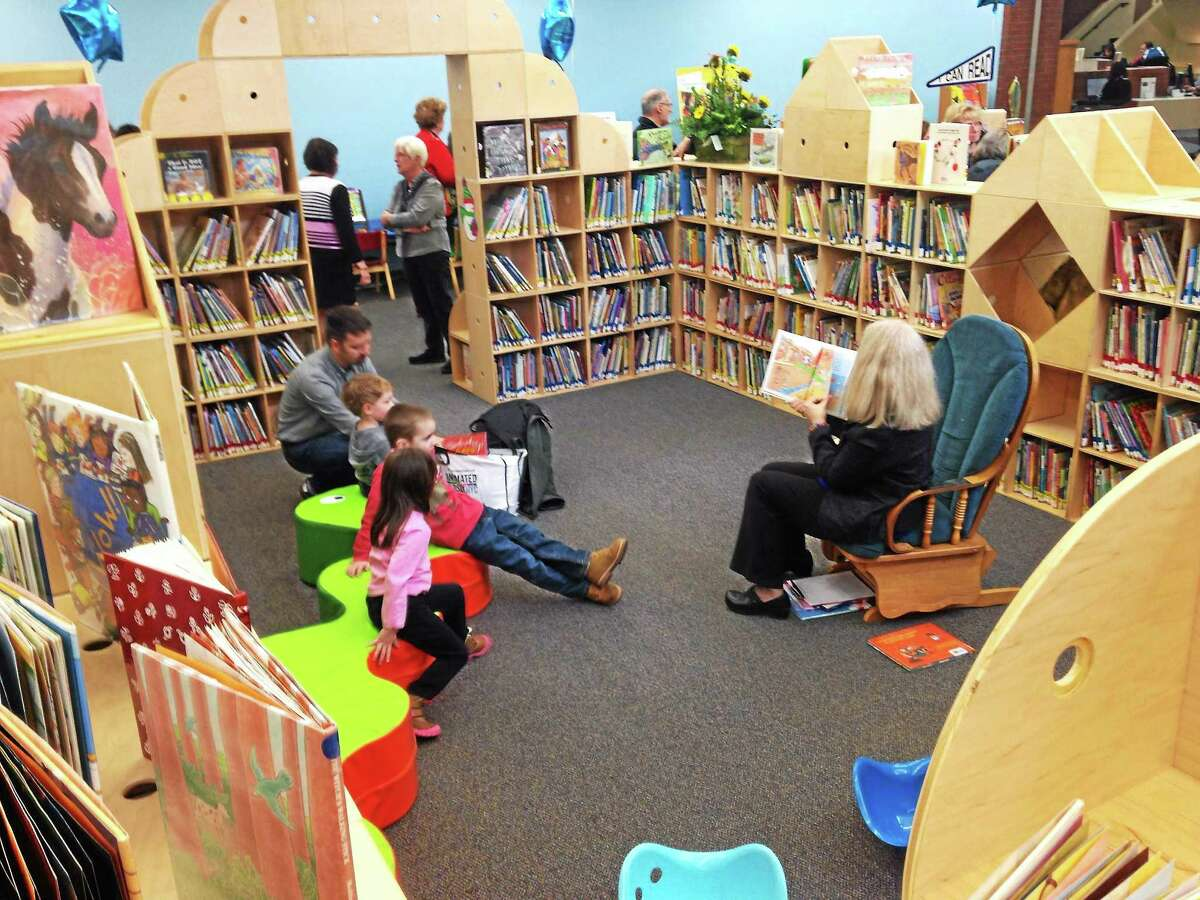 Children enjoy the new Early Learning Center, which opened Thursday, Jan. 22, at Miller Memorial Library.