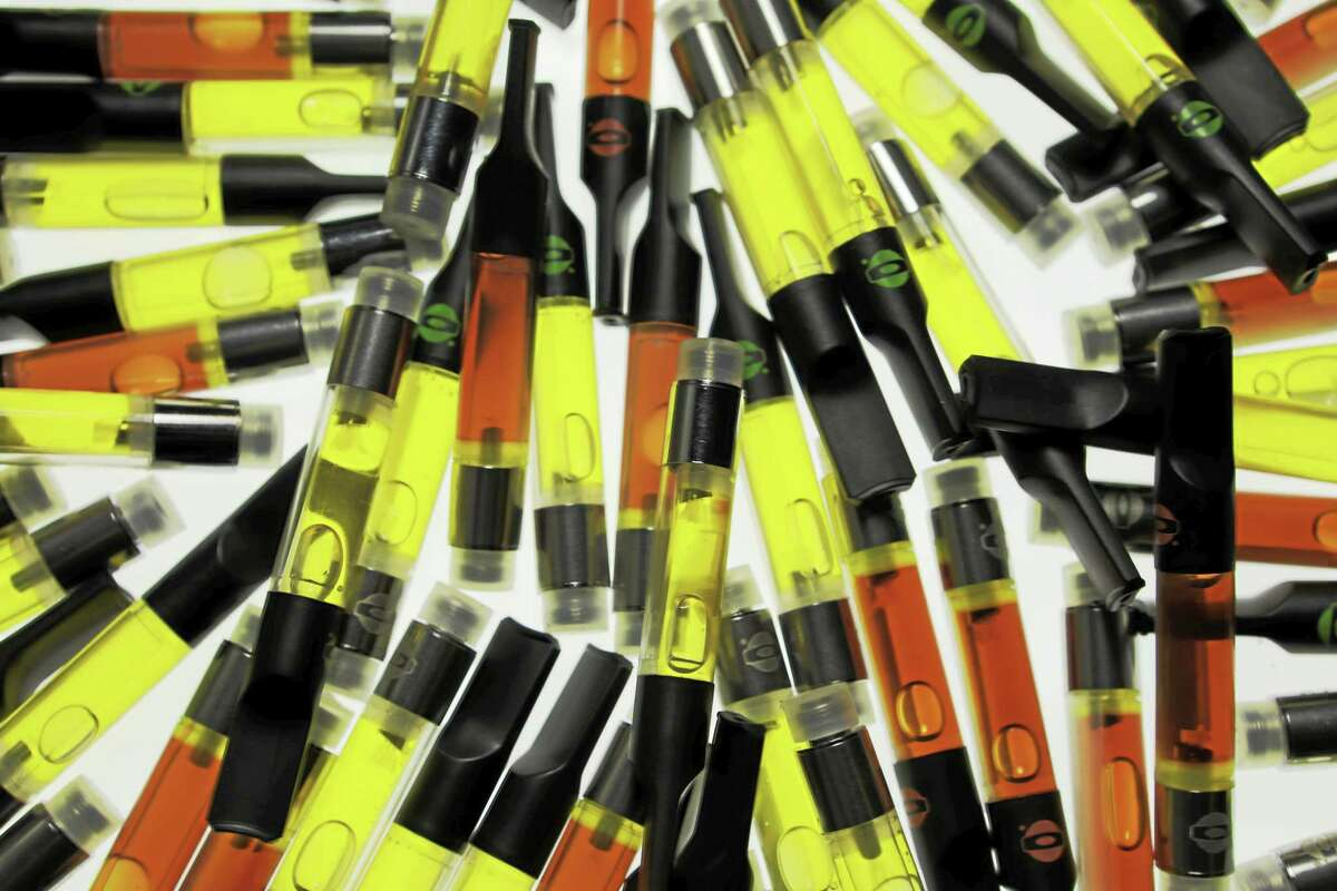 Disposable cartridges used with O.penVAPE vaporizing pens.