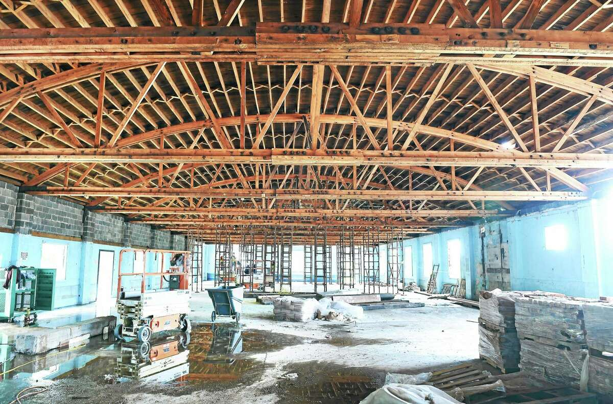 (Arnold Gold-New Haven Register) The interior of the luxury condominium complex, Residences at 66 High Street, under construction in Guilford.