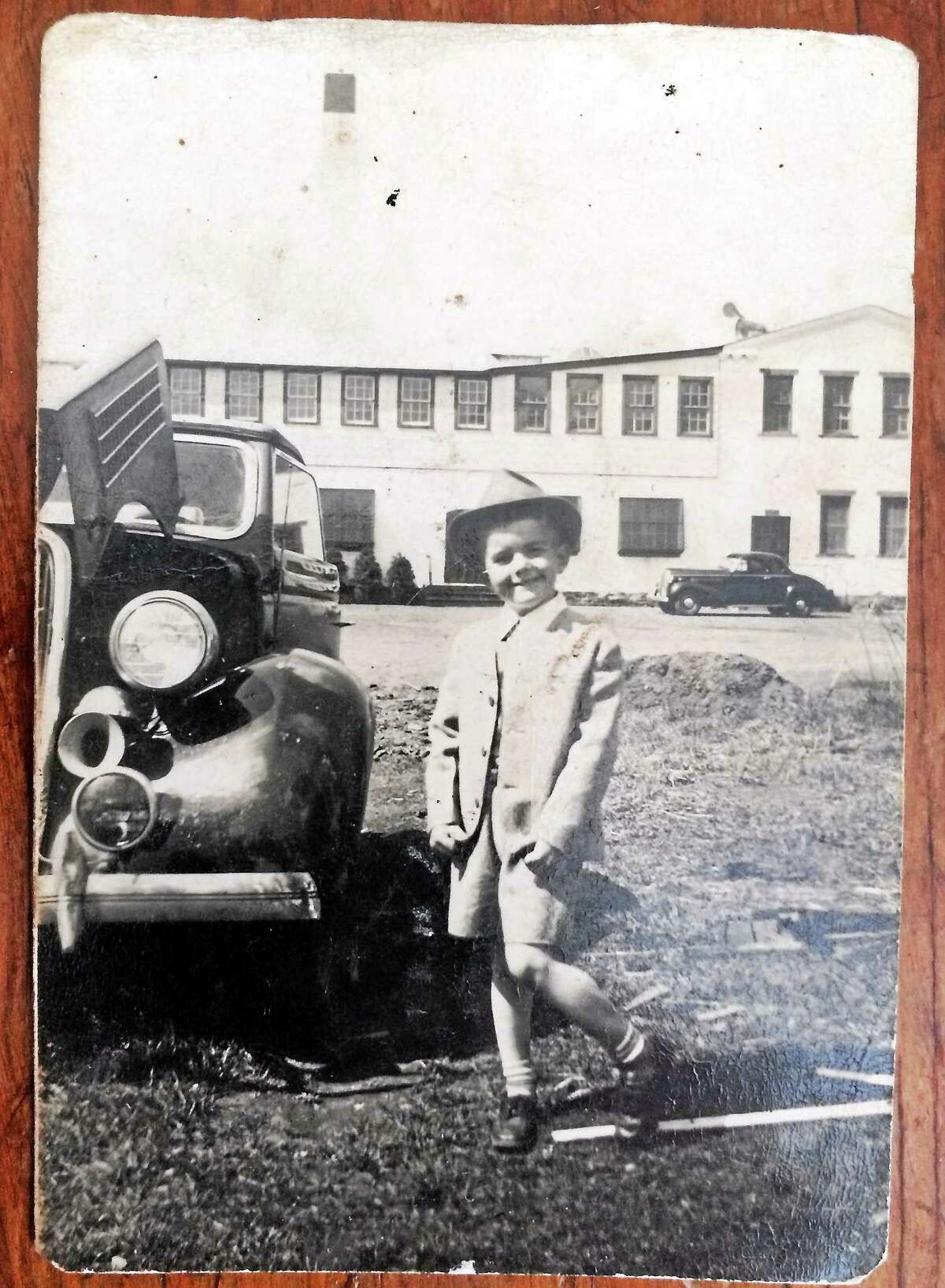 Carl Balestracci as a young lad at 66 High St. in Guilford when it was New Haven Watch.
